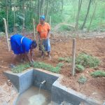 The Water Project: Shivembe Community, Murumbi Spring -  Grass Planting