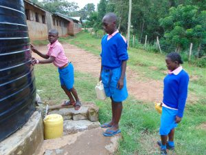 The Water Project:  Pupils Fetching Water
