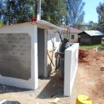 The Water Project: Ebukhuliti Primary School -  Latrines Receive Coat Of Paint
