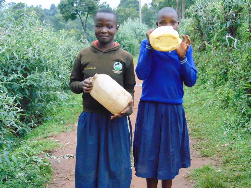 The Water Project : 24-kenya20143-students-carrying-water