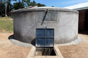 The Water Project:  Clean Water Flows From Completed Rain Tank