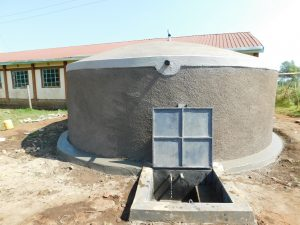 The Water Project:  Clean Water Flows From The New Rain Tank