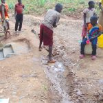 The Water Project: Shivembe Community, Murumbi Spring -  Digging Drainage Above Stairs