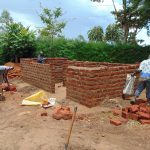 The Water Project: Kerongo Secondary School -  Latrine Walls Going Up