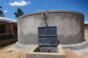 The Water Project:  Clean Water Flows From Newly Completed Rain Tank