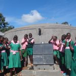 The Water Project: Mwichina Primary School -  Pupils Celebrate The New Rain Tank