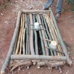 The Water Project: Shivembe Community, Murumbi Spring -  Form To Cast Sanitation Platform