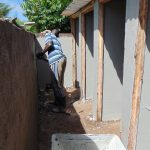 The Water Project: Kerongo Secondary School -  Plastering A Latrine Block