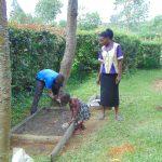 The Water Project: Buyangu Community, Mukhola Spring -  Sanitation Platform Construction