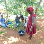The Water Project: Shikhombero Community, Atondola Spring -  Laodia Leads Handwashing Session
