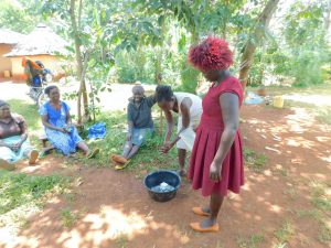 The Water Project:  Laodia Leads Handwashing Session
