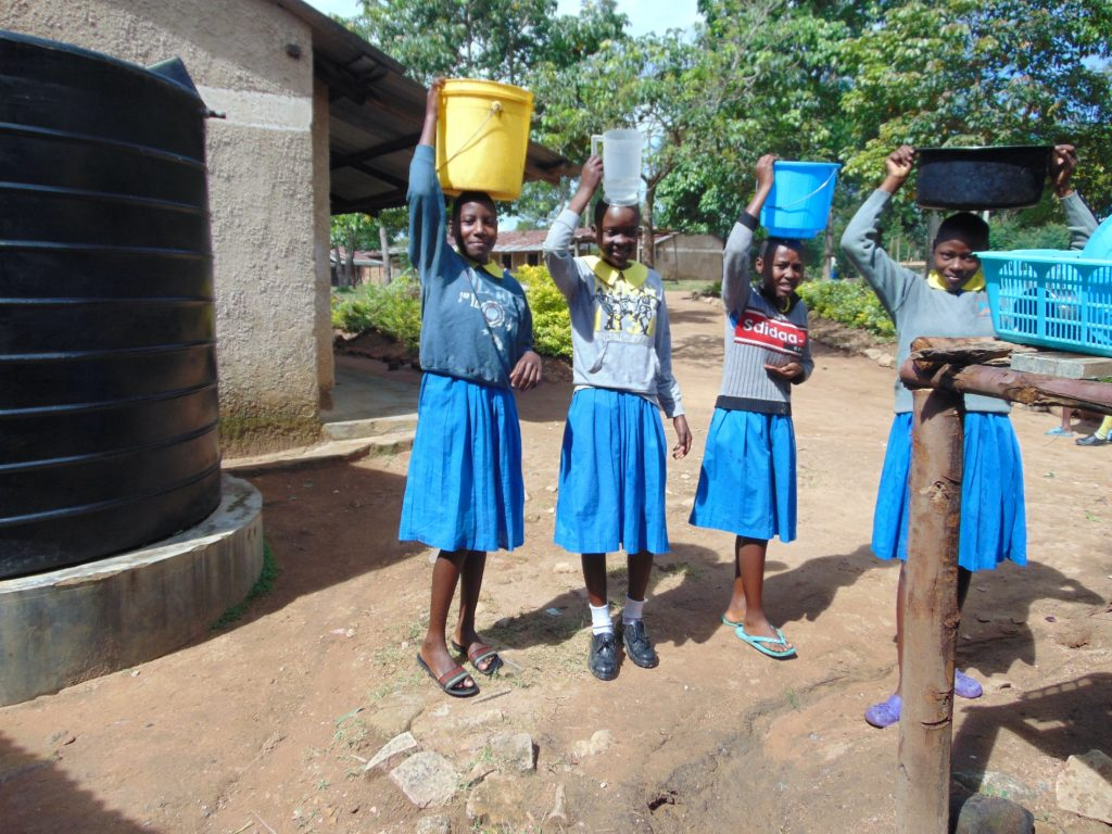 The Water Project : 27-kenya20145-students-carrying-water
