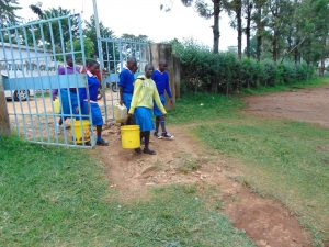 The Water Project:  Pupils Arrive At School With Water