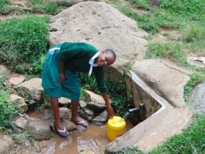 The Water Project:  Catherine Fetching Water