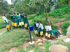 The Water Project:  Pupils In Line To Fetch Water