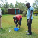 The Water Project: Jivovoli Community, Magumba Spring -  Handwashing