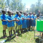 The Water Project: St. Joseph's Lusumu Primary School -  Handwashing Demonstration