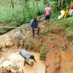 The Water Project: Malimali Community, Shamala Spring -  Laying The Stones For The Foundation