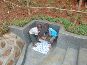 The Water Project:  Children Happy At The Spring