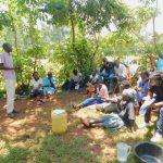 The Water Project: Shikhombero Community, Atondola Spring -  Trainer Protus In Action