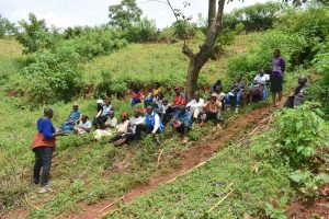 The Water Project:  Training Participants Meet Under A Tree