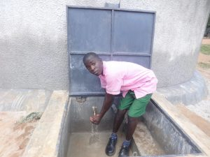 The Water Project:  Student Enjoying The Fresh Water