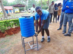 The Water Project:  Pupil Rodah Handwashing