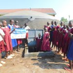 The Water Project: Mulwanda Mixed Primary School -  Students Pose With The Tank