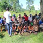 The Water Project: Malimali Community, Shamala Spring -  Participants Listen To The Trainer