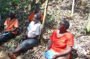 The Water Project:  Women Listening At Training