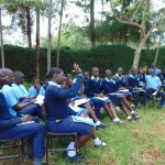 The Water Project: Kerongo Secondary School -  Students Raise Their Hands