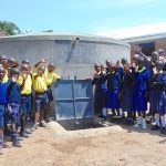 The Water Project: Kosiage Primary School -  Pupils And Staff Celebrate The Rain Tank