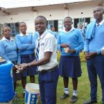 The Water Project: Kamimei Secondary School -  Handwashing