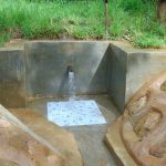 The Water Project: Kimarani Community, Kipsiro Spring -  Clean Water Flowing