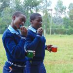 The Water Project: Kerongo Secondary School -  Students Demonstrate Toothbrushing