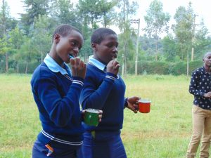 The Water Project:  Students Demonstrate Toothbrushing