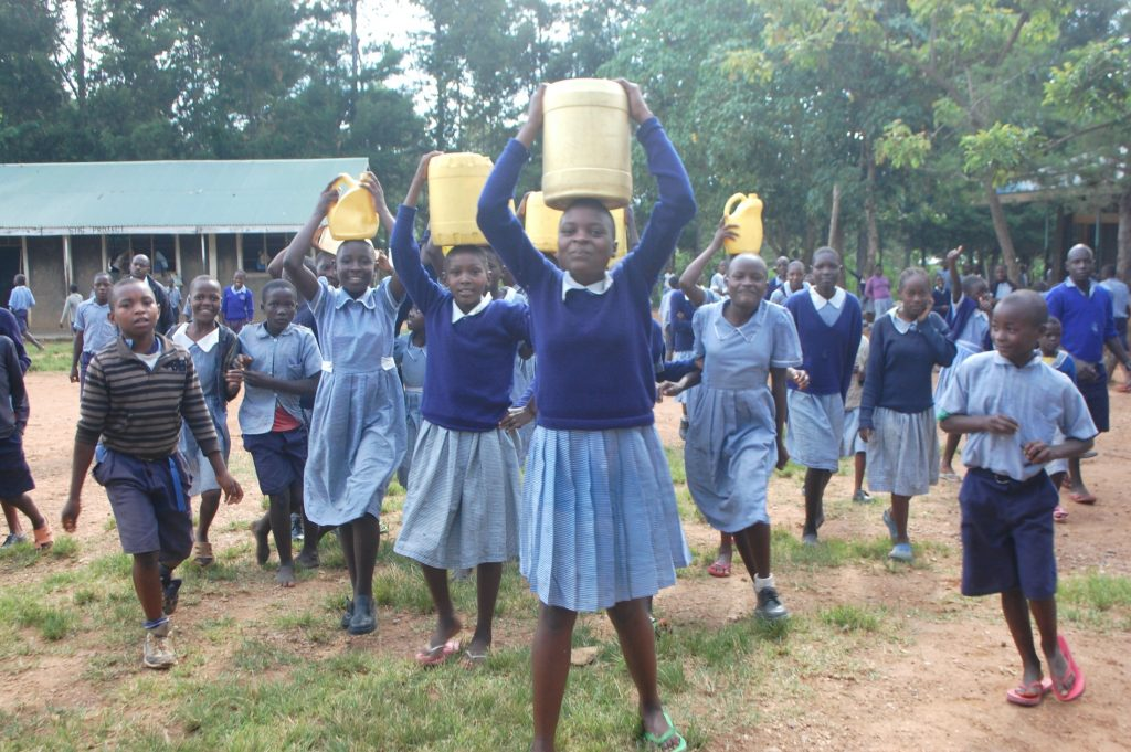 The Water Project : 34-kenya20144-students-carrying-water-2