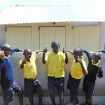 The Water Project: Kosiage Primary School -  Boys Give Thumbs Up For New Latrines