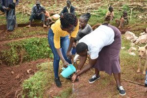 The Water Project:  Handwashing Demonstration With Trainer Joyce Naliaka