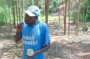 The Water Project:  Volunteer Demonstrates Toothbrushing