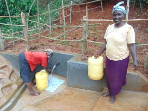 The Water Project:  Women Fetching Clean Water