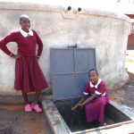 The Water Project: Ebukhuliti Primary School -  Girls At The Rain Tank