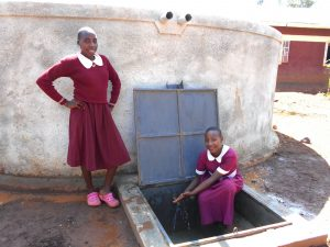 The Water Project:  Girls At The Rain Tank