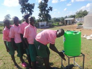 The Water Project:  Boys Use A Handwashing Station