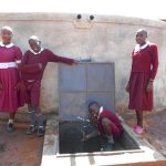 The Water Project: Ebukhuliti Primary School -  Students At The Rain Tank