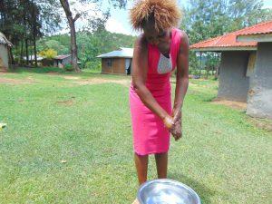 The Water Project:  Mrs Millicent Mugasia Handwashing