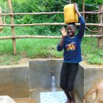 The Water Project: Kimarani Community, Kipsiro Spring -  A Moment Of Joy At The Spring
