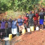 The Water Project: Shikhombero Community, Atondola Spring -  Rejoicing And Gladness