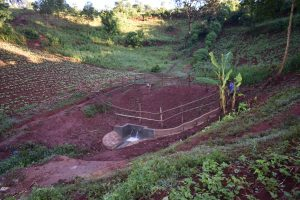 The Water Project:  Completed Marko Spring With Fence And Planted Grass