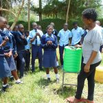 The Water Project: Kerongo Secondary School -  A Student Shows The Steps